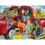 Puzzle  Sunsout-63058 XXL Teile - Puppy Car Wash