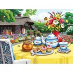 Puzzle  Sunsout-63088 Nancy Wernersbach - Honey and Tea