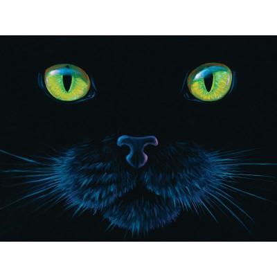 Puzzle  Sunsout-63346 Charles Lynn Bragg - Black Cat