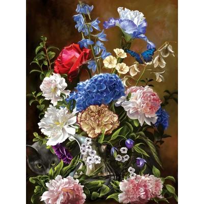 Puzzle  Sunsout-67709 Bouquet in Blue