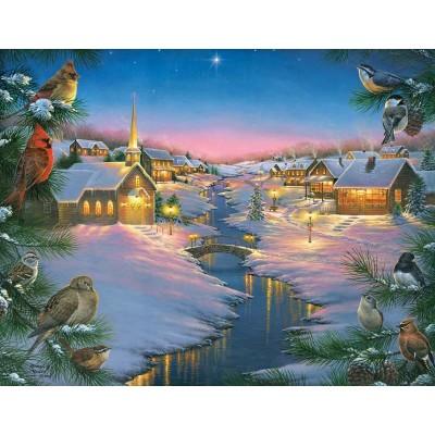 Puzzle Sunsout-69609 XXL Teile - Abraham Hunter - A Winter's Silent NIght