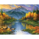 Puzzle  Sunsout-69611 XXL Teile - Abraham Hunter - Mountain Retreat