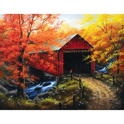 Puzzle  Sunsout-69623 XXL Teile - Abraham Hunter - Over the River