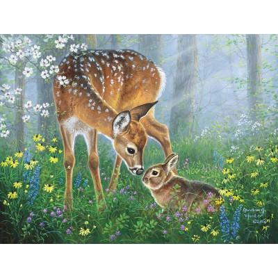 Puzzle  Sunsout-69641 XXL Teile - Forest Friendship