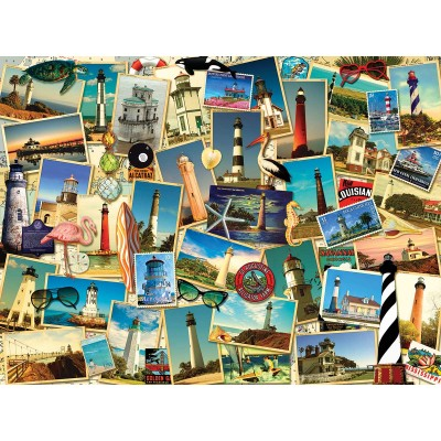 Puzzle Sunsout-70061 Kate Ward Thacker - Southern Lighthouses
