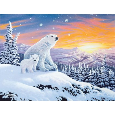 Puzzle  Sunsout-70266 XXL Teile - The Snow Bears