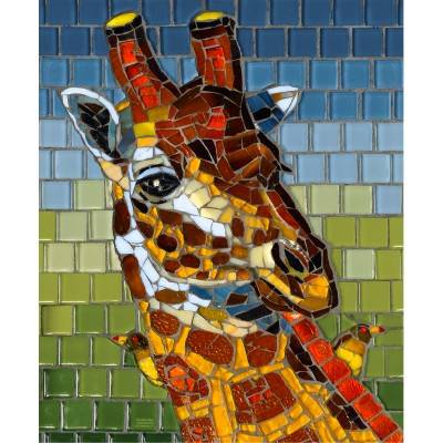 Puzzle  Sunsout-70731 Stained Glass Giraffe