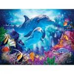 Puzzle  Sunsout-70926 XXL Teile - Dolphin Guardian
