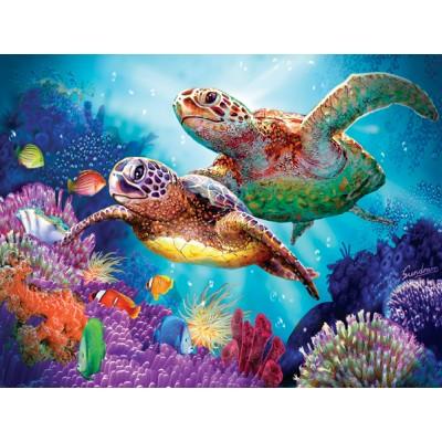 Puzzle Sunsout-70930 Steve Sundram - Turtle Guardian