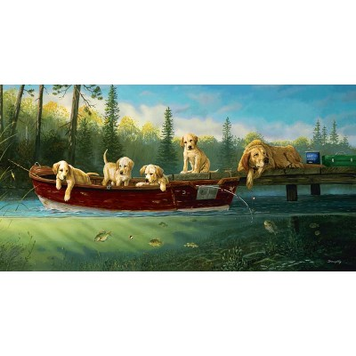Puzzle  Sunsout-71196 XXL Teile - Fishing Lessons