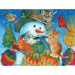 Puzzle  Sunsout-71984 XXL Teile - Snowman Cuddles