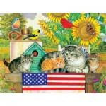 Puzzle  Sunsout-71988 Patriotic Kittens