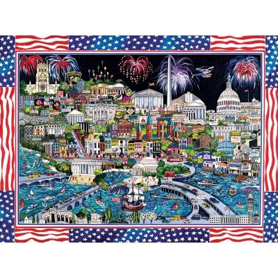 Puzzle  Sunsout-74058 Sharie Hatchett Bohlmann - Fireworks over Washington DC
