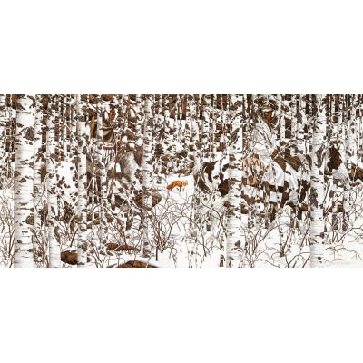 Puzzle  Sunsout-74415 Bev Doolittle - Woodland Encounter