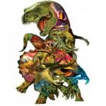 Puzzle  Sunsout-90426 XXL Teile - Dennis Rogers - T Rex Attack