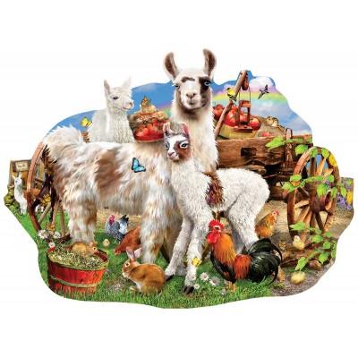 Puzzle  Sunsout-95077 Lori Schory - Llama farm