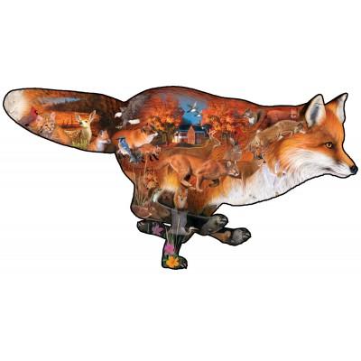 Puzzle  Sunsout-95201 XXL Teile - Dennis Rogers - Sly Fox