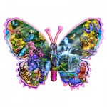 Puzzle  Sunsout-95234 Lori Schory - Butterfly Waterfall