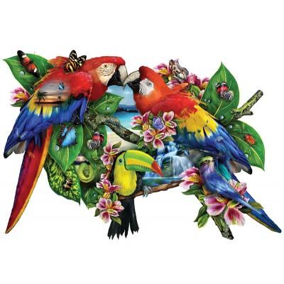 Puzzle  Sunsout-95278 Lori Schory - Parrots in Paradise