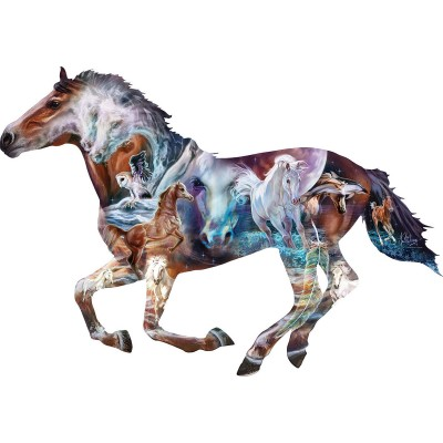 Puzzle  Sunsout-95973 XXL Teile - The Mystery of the Horse