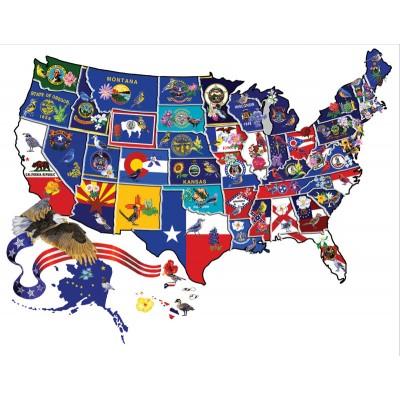 Puzzle  Sunsout-95995 Joseph Burgess - America the Beautiful