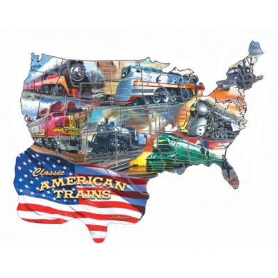 Puzzle  Sunsout-96006 Larry Grossman - Classic American Trains