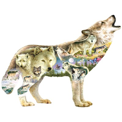 Puzzle  Sunsout-96038 XXL Teile - Greg Giordano - Meadow Wolf