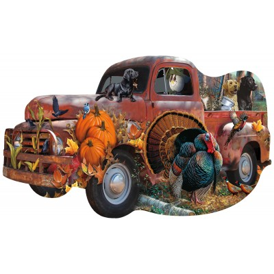 Puzzle  Sunsout-96089 Jerry Gadamus & Cynthia Fisher - Harvest Truck