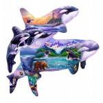 Puzzle  Sunsout-96186 Steve Sundram - Orca Habitat