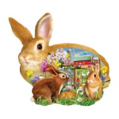 Puzzle  Sunsout-97038 Lori Schory - Springtime Bunnies