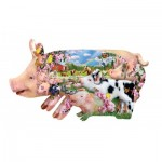 Puzzle  Sunsout-97077 XXL Teile - Lori Schory - Pig Farm