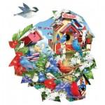 Puzzle  Sunsout-97104 Lori Schory - Birdhouse Celebration