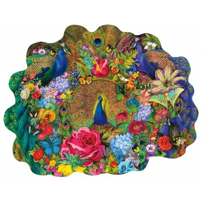 Puzzle  Sunsout-97174 Aimee Stewart - Garden Peacock