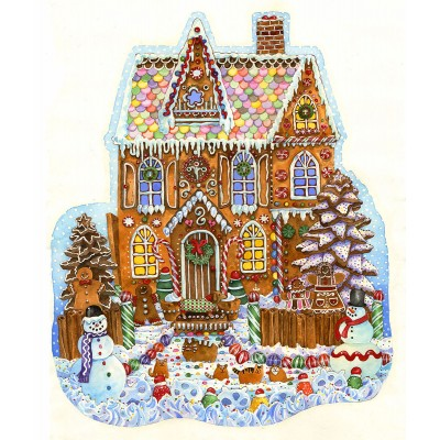 Puzzle  Sunsout-97179 Wendy Edelson - Gingerbread House