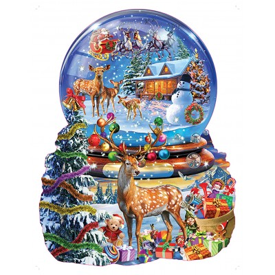 Puzzle  Sunsout-97182 Adrian Chesterman - Christmas Snow Globe
