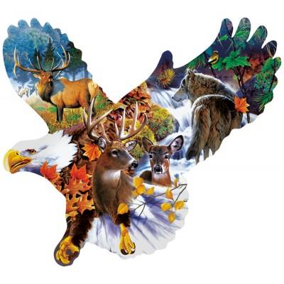 Puzzle Sunsout-97278 Jerry Gadamus - Forest Eagle