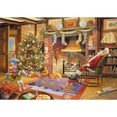 Puzzle  The-House-of-Puzzles-1158 Christmas Collectors Edition No.1 - Caught Napping