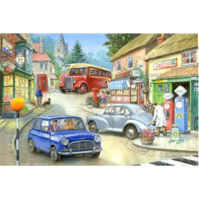 Puzzle  The-House-of-Puzzles-1387 XXL Teile - Country Town