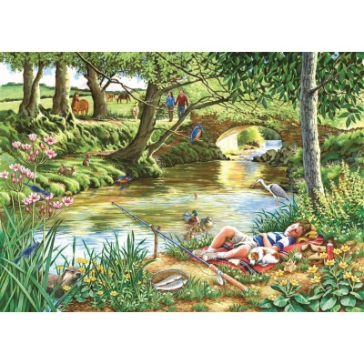 Puzzle  The-House-of-Puzzles-2742 XXL Teile - Gone Fishing