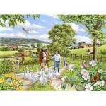 Puzzle  The-House-of-Puzzles-3022 XXL Teile - Goosey Gander