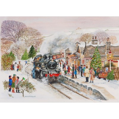 Puzzle The-House-of-Puzzles-3046 XXL Teile - Steaming Along