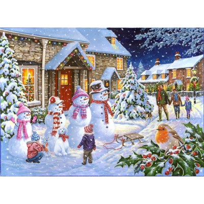 Puzzle  The-House-of-Puzzles-4258 Snow Family