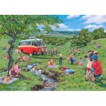 Puzzle  The-House-of-Puzzles-4821 XXL Teile - Darley Collection - Sunday Picnic