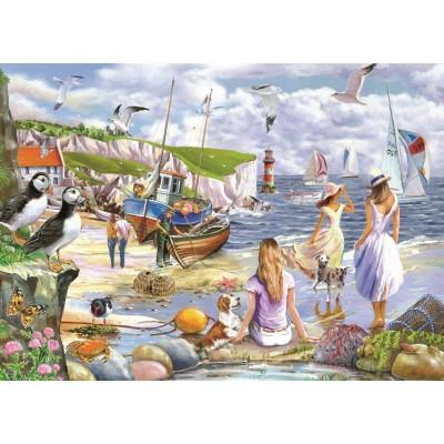 Puzzle  The-House-of-Puzzles-4937 XXL Teile - Sea Shore Breezes