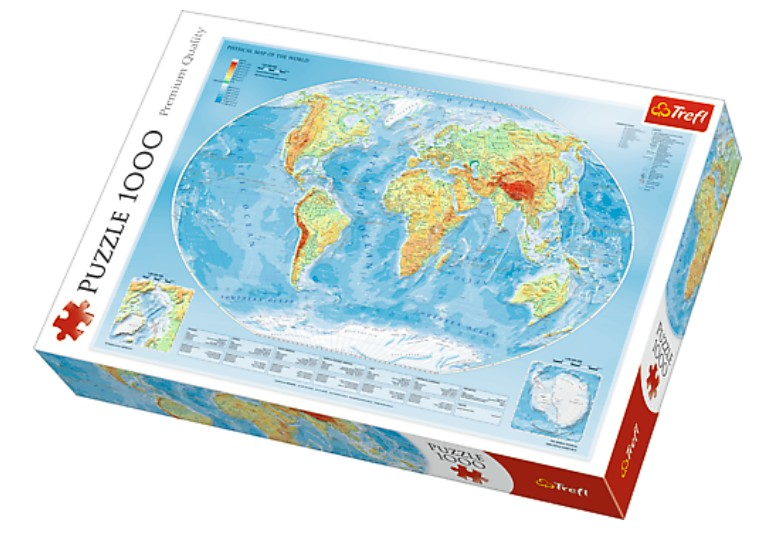 Puzzle Physical Map of the World Trefl-10463 1000 Teile Puzzle ...