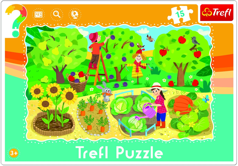 Rahmenpuzzle - Garden Trefl-31218 15 Teile Puzzle - Auf dem Land ...
