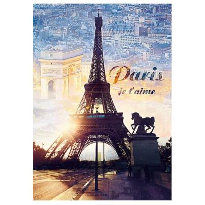 Puzzle Trefl-10394 Paris, ich liebe dich