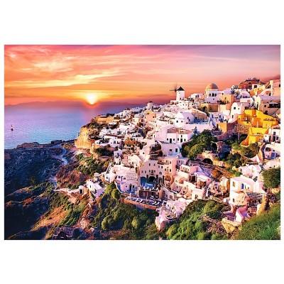 Puzzle Trefl-10435 Sonnenuntergang über Santorini
