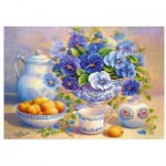 Puzzle  Trefl-10466 Blue Bouquet