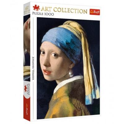 Puzzle  Trefl-10522 Johannes Vermeer - Das Mädchen mit Dem Perlenohrring